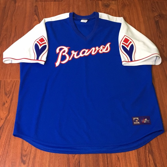 best service 1e3ea 1b1e6 Atlanta Braves Cooperstown 1974 Throwback Jersey